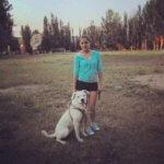 Фото аргентинского дога с хозяйкой